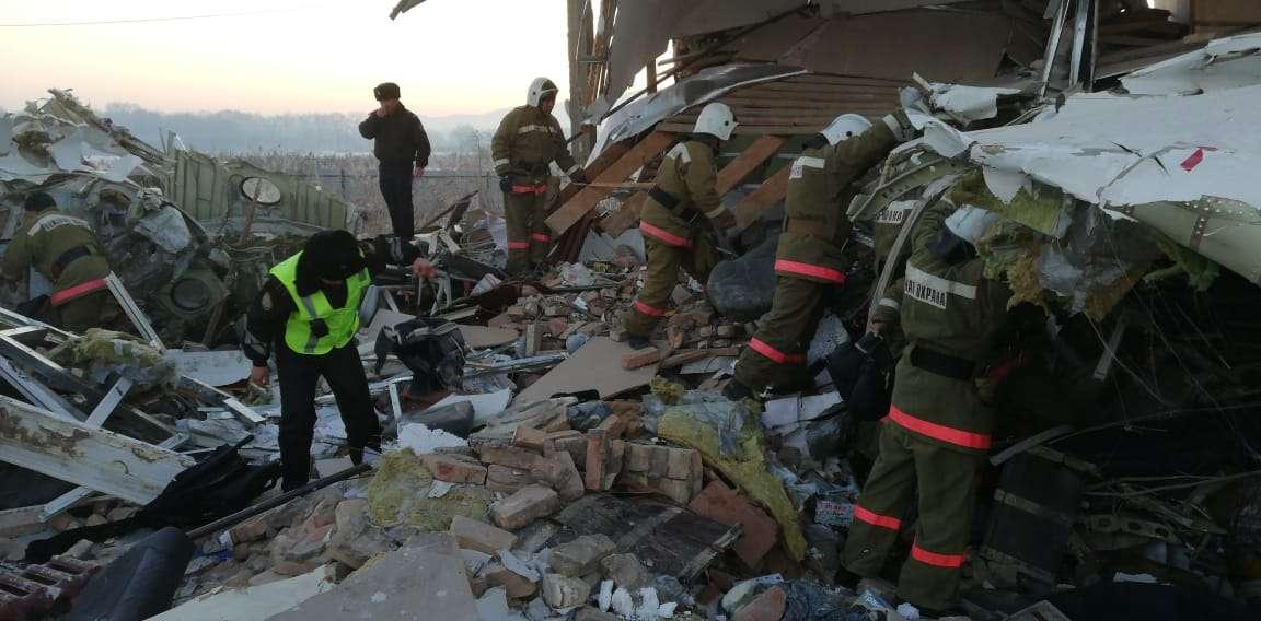 Работы на месте катастрофы