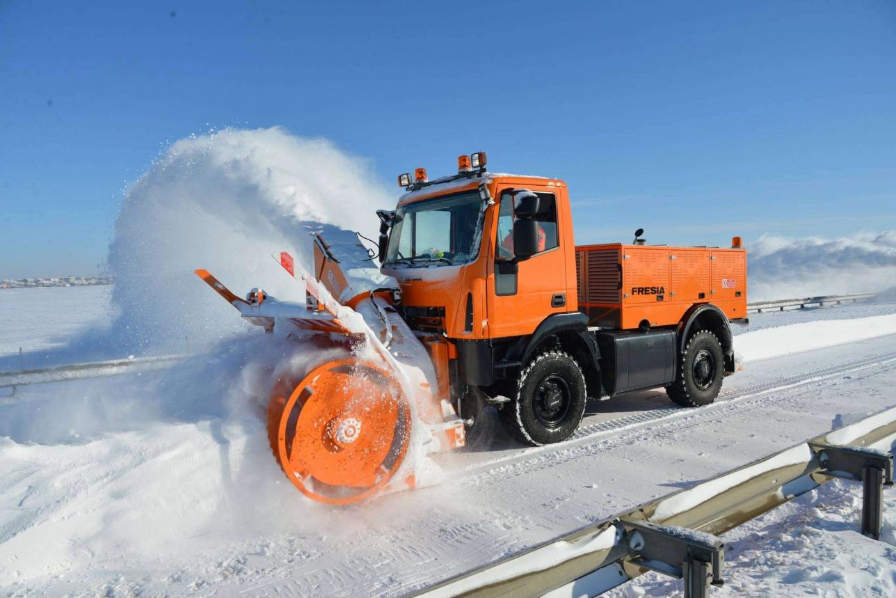 Уборка снега в Норвегии