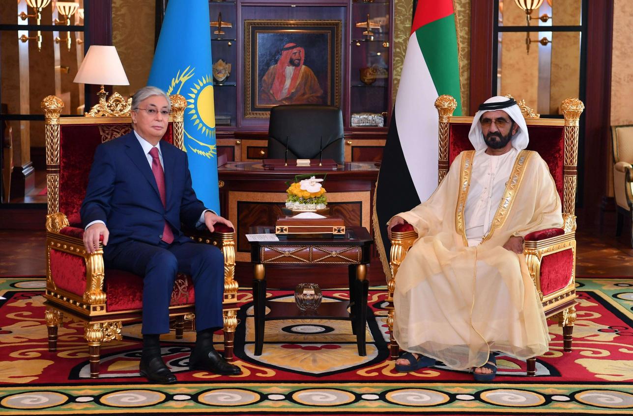 Президент Казахстана и шейх обсудили вопросы сотрудничества двух стран
