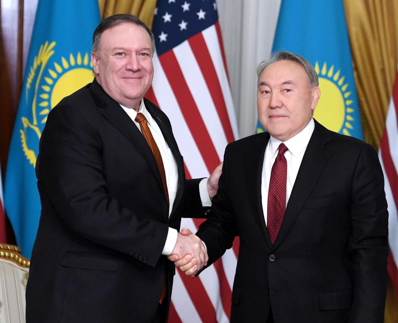 Встреча Первого Президента РК Нурсултана Назарбаева и госсекретаря США Майкла Помпео