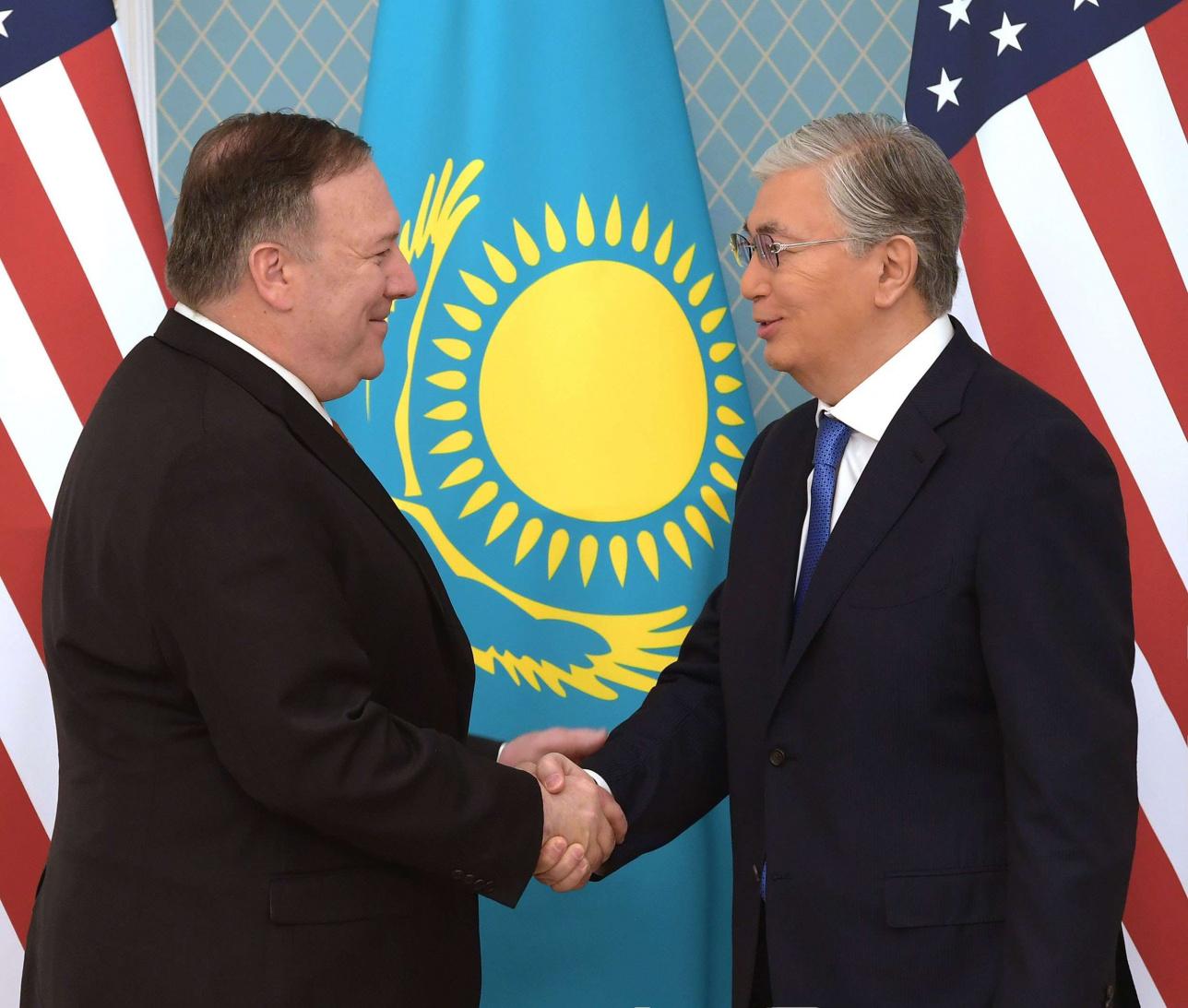 Встреча президента РК Касым-Жомарта Токаева и госсекретаря США Майла Помпео