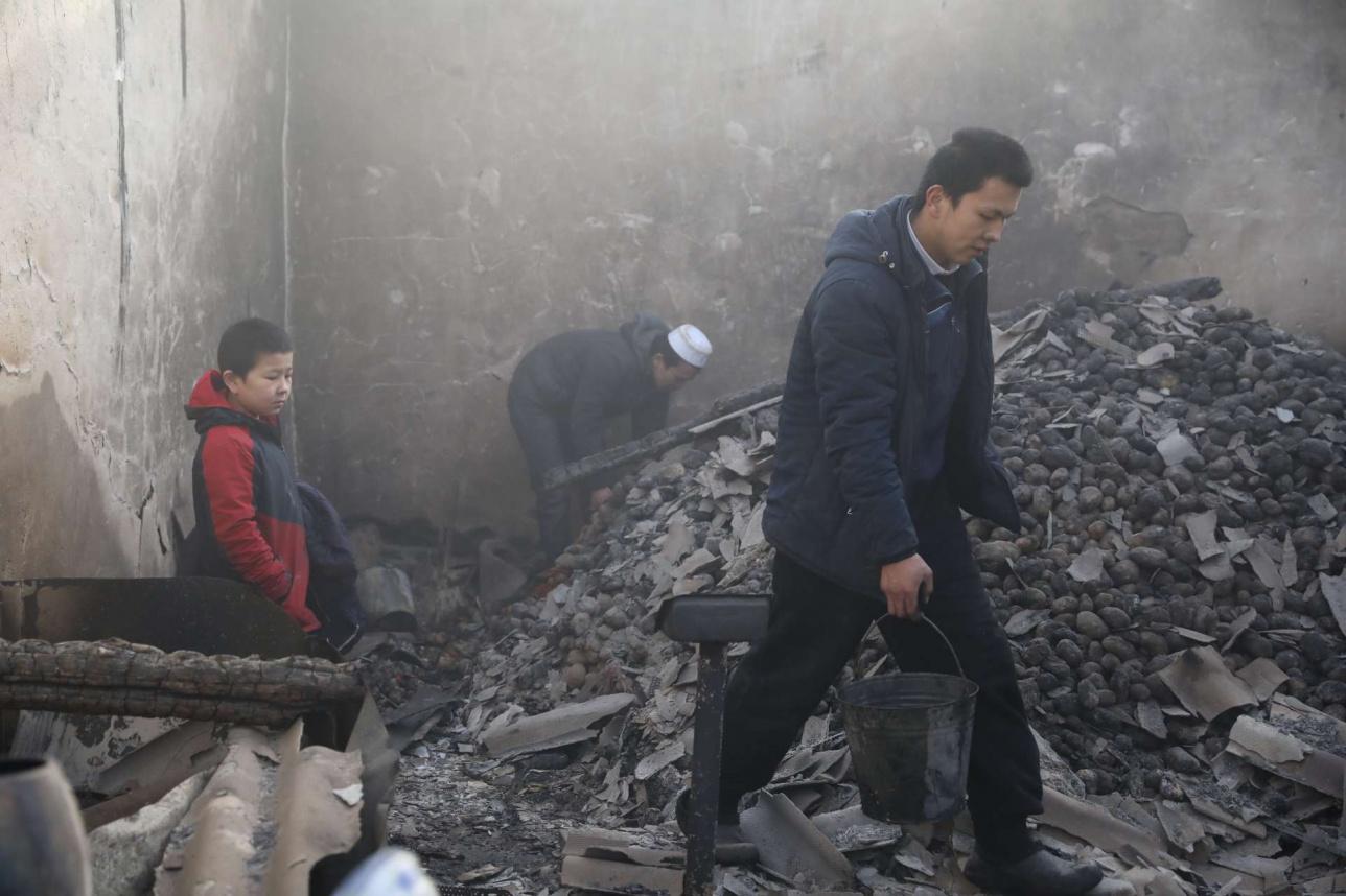 Сгоревший дом в Кордайском районе