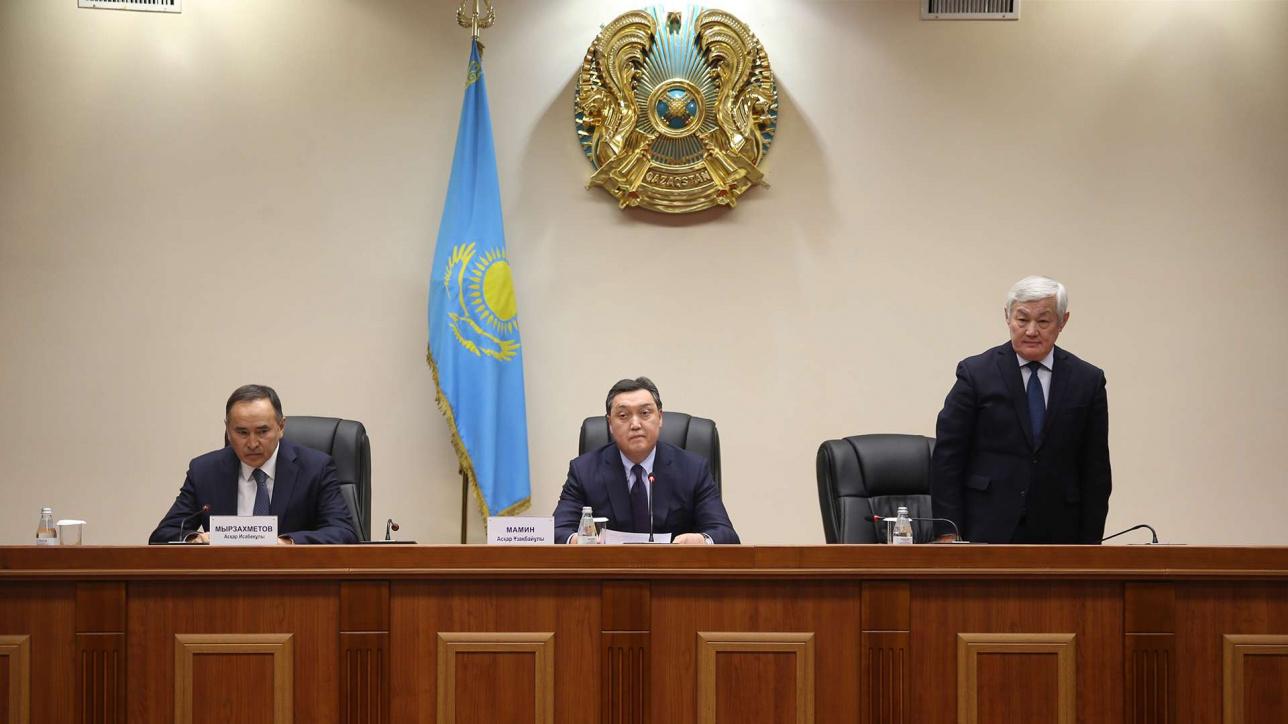 Аскар Мамин представил активу Жамбылской области нового акима