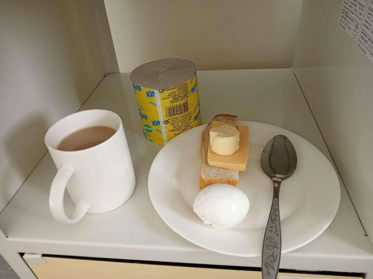 Первая еда в больнице