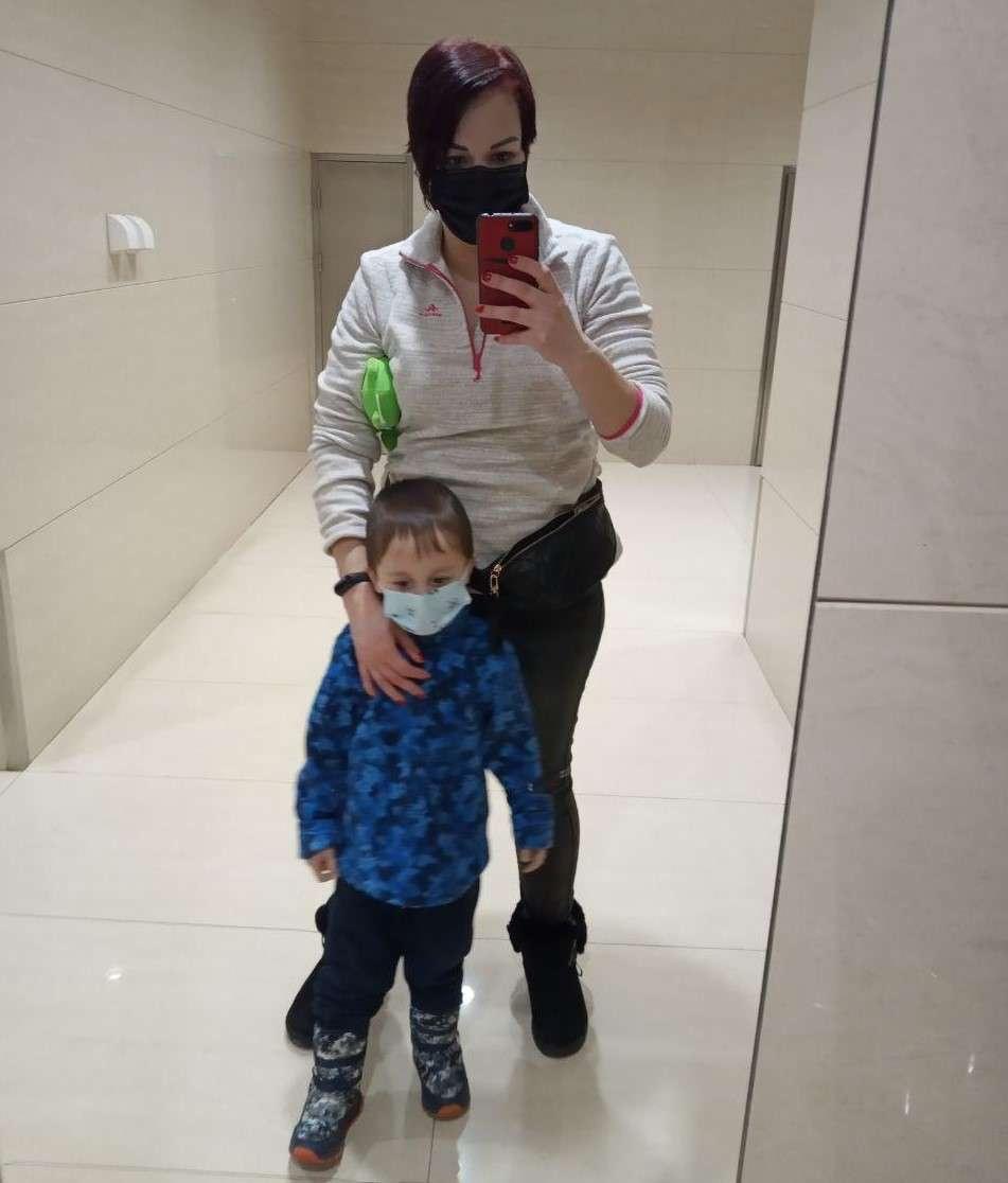 Екатерина Алиева с сыном