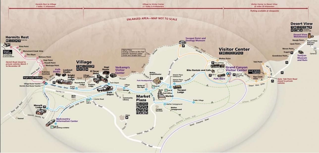 Карта Гранд Каньона