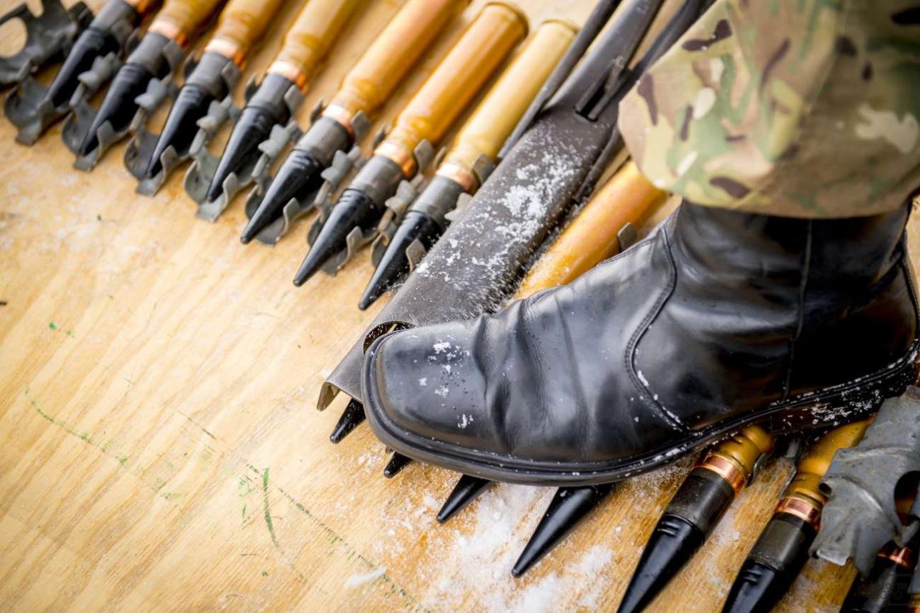 На испытаниях одна лента обычно содержит 28 снарядов