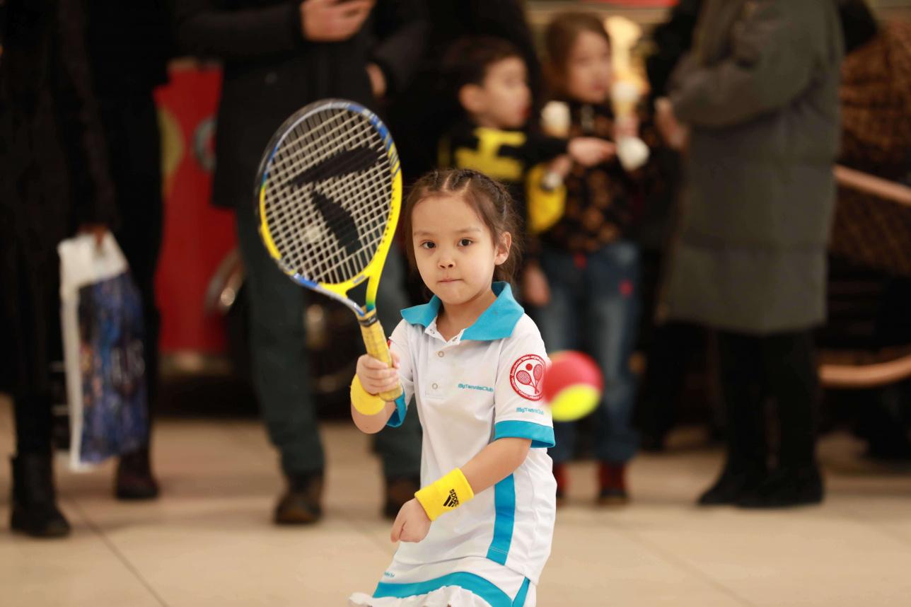 Мастер-класс теннисистов сборной Казахстана для детей в Нур-Султане