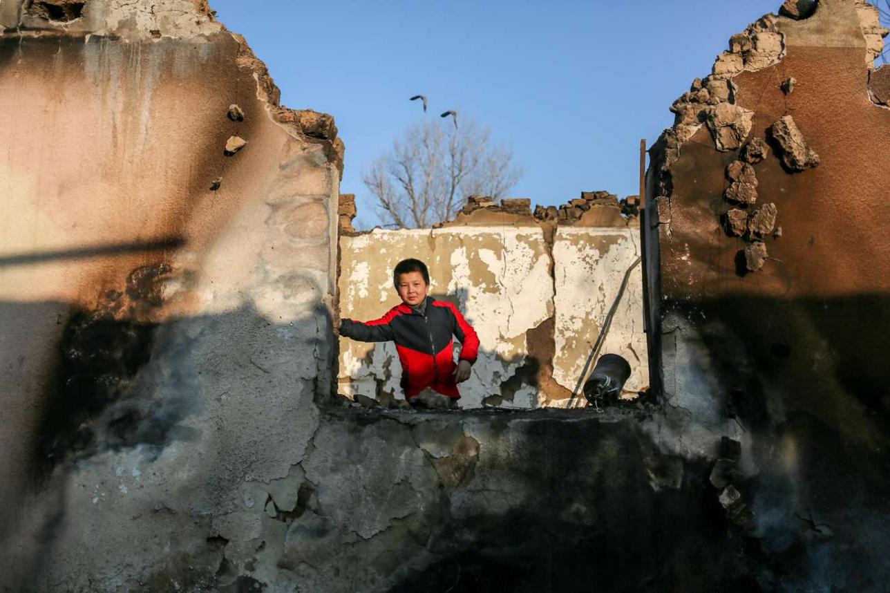 Сгоревший дом Идриса Хурова