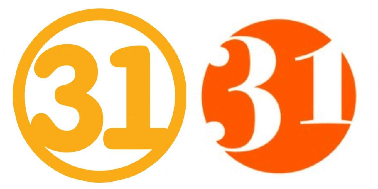 Логотип 31 канала до и после ребрендинга