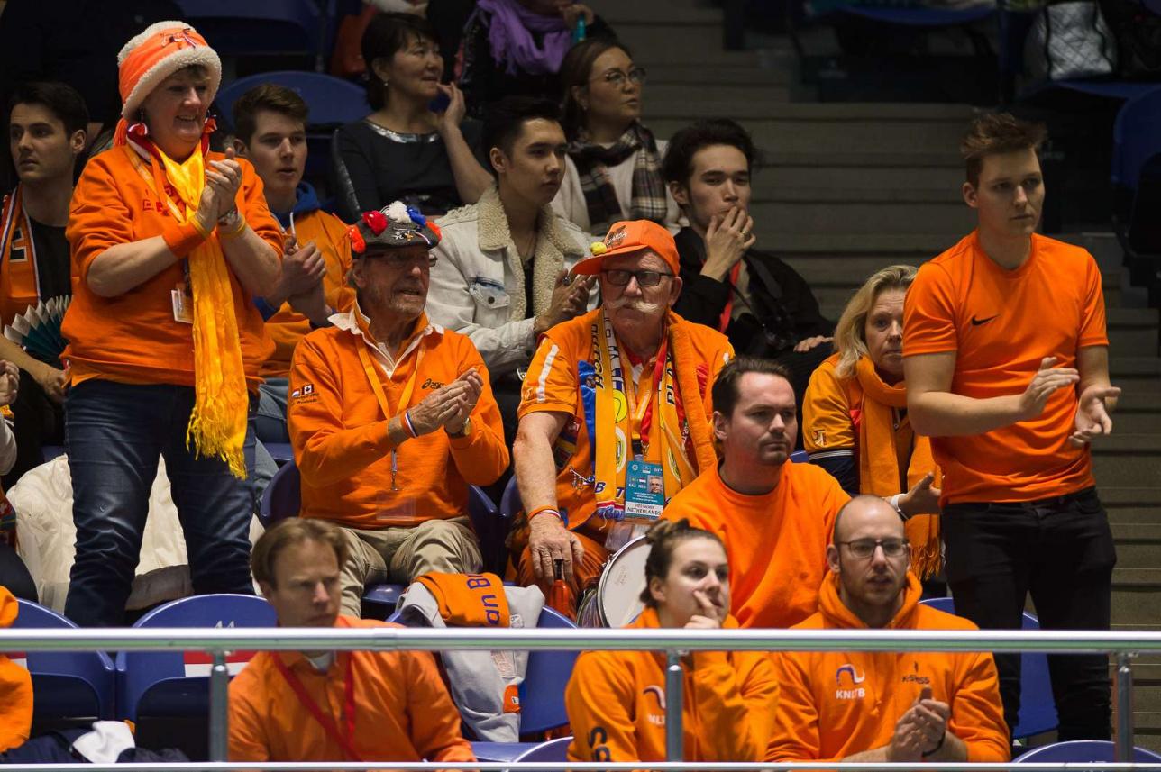Нидерландских теннисистов пришли поддержать их соотечественники, работающие в Нур-Султане