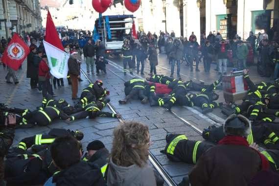 Всеобщая забастовка профсоюзов, Италия, Турин. 2014 год