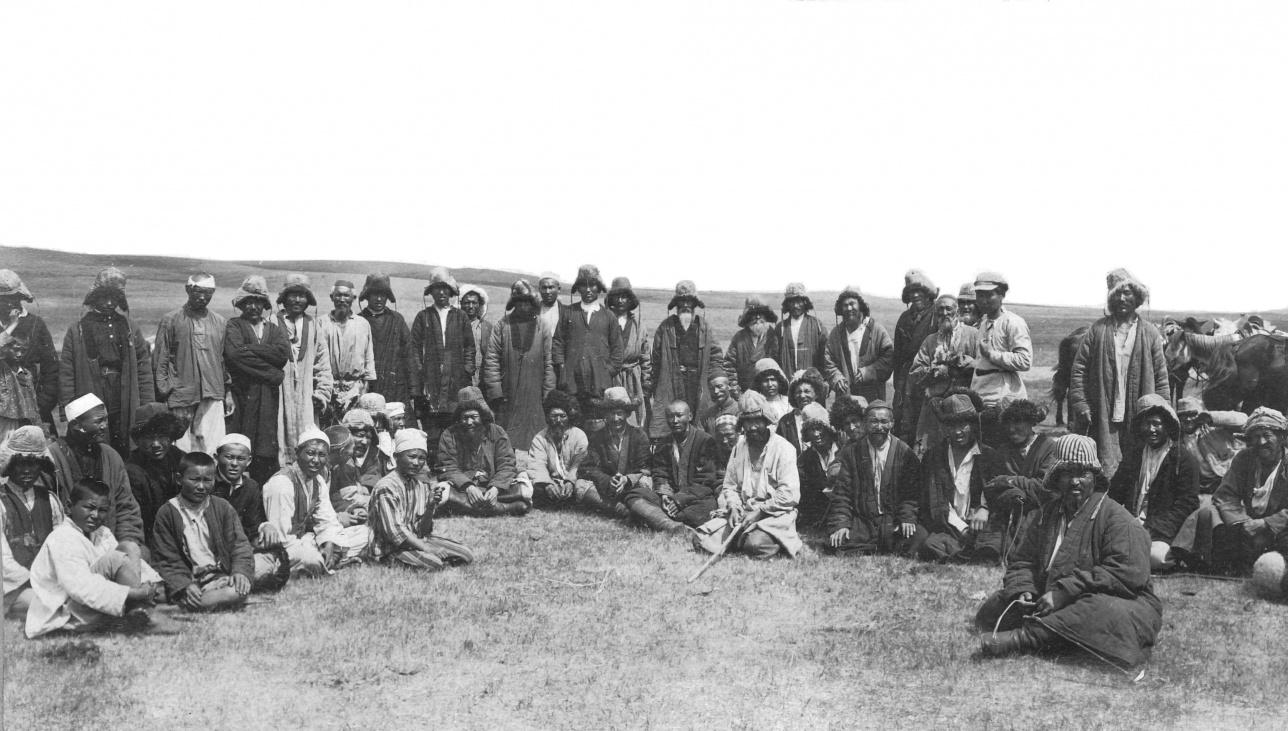 Собрание казахов ур. Биикбай рода Жетыбай, 1926 г.