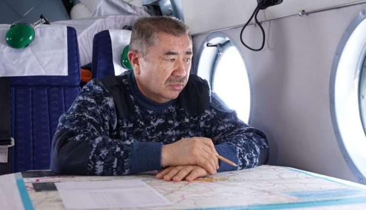 Ерлан Тургумбаев во время облёта
