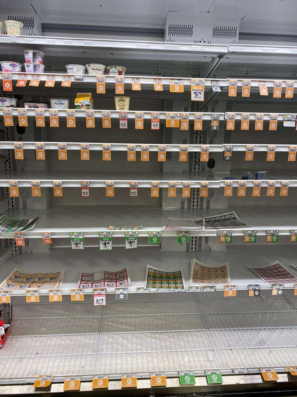 Самал Фримонт қаласындағы супермаркеттерде кейбір өнімдер тапшы екенін айтты
