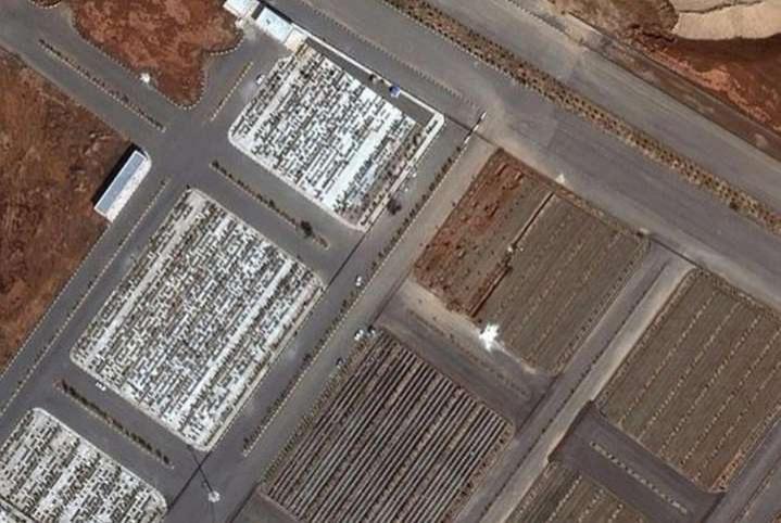 Снимки кладбищ в Иране со спутника