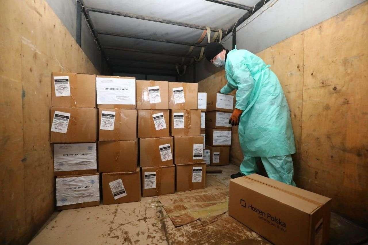 Польша жіберген гуманитарлық көмек