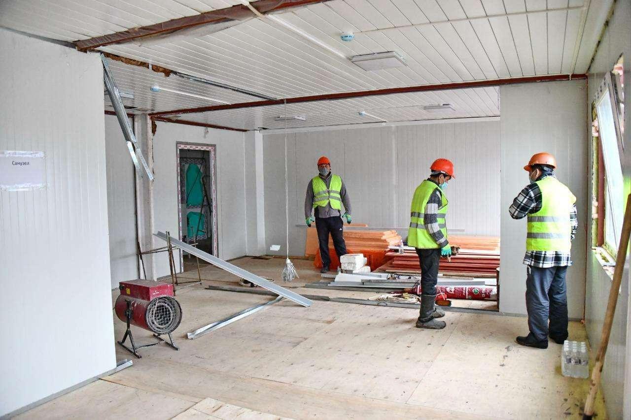Строительство инфекционного госпиталя в Алматы