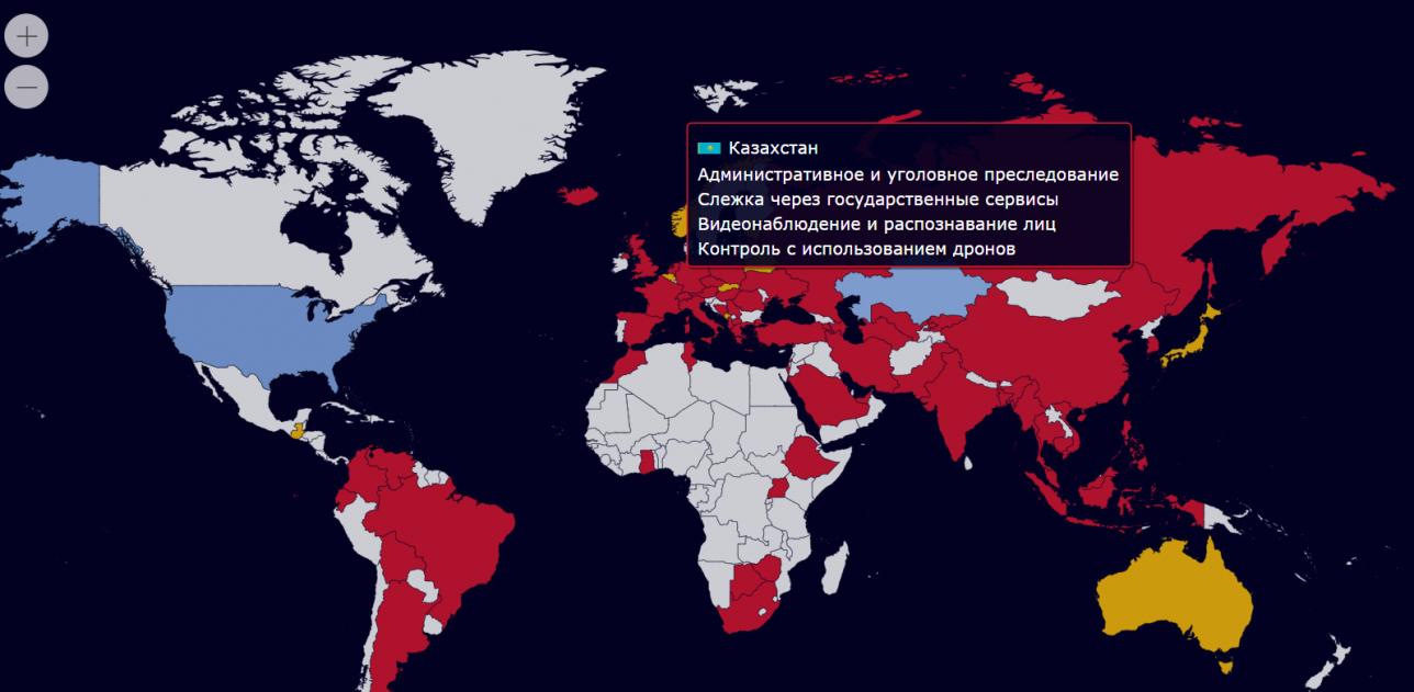 Мониторинг ограничения гражданских прав, реализуемые с помощью цифровых технологий.