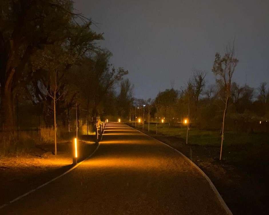 Так освещается Ботсад в вечернее время