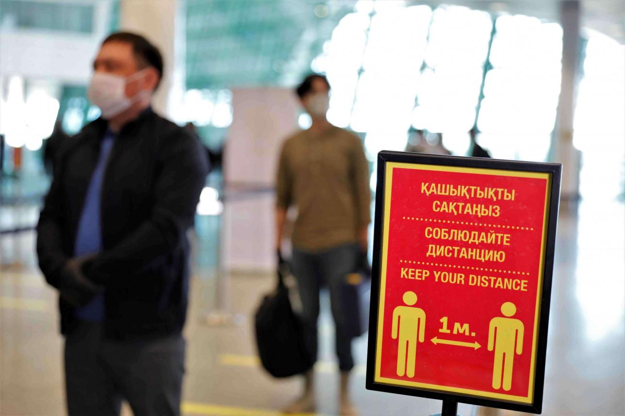 Первые пассажиры рейса Нур-Султан Алматы