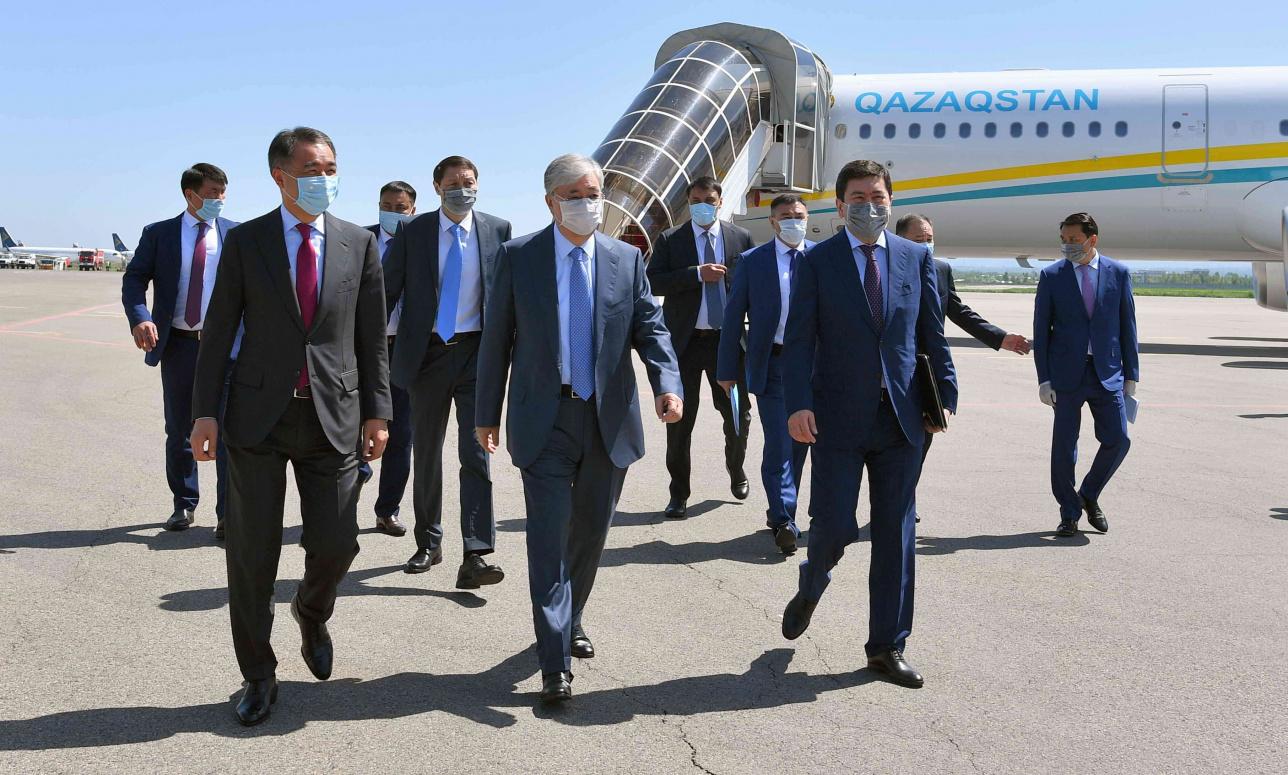 Касым-Жомарт Токаев прибыл с рабочим визитом в Алматы