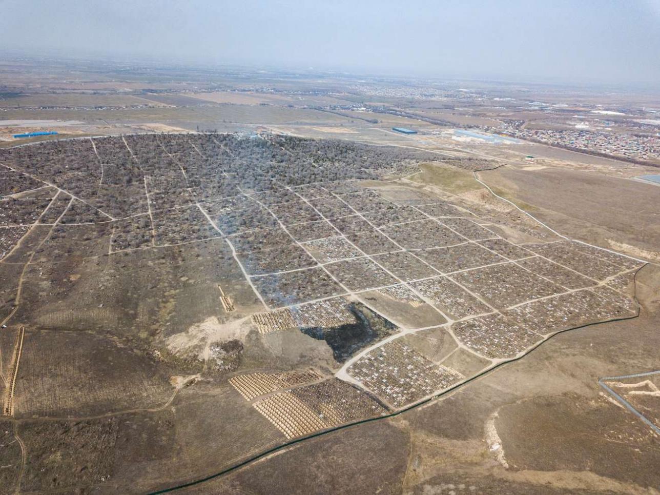 Батыс зиратының аумағы 287 гектар
