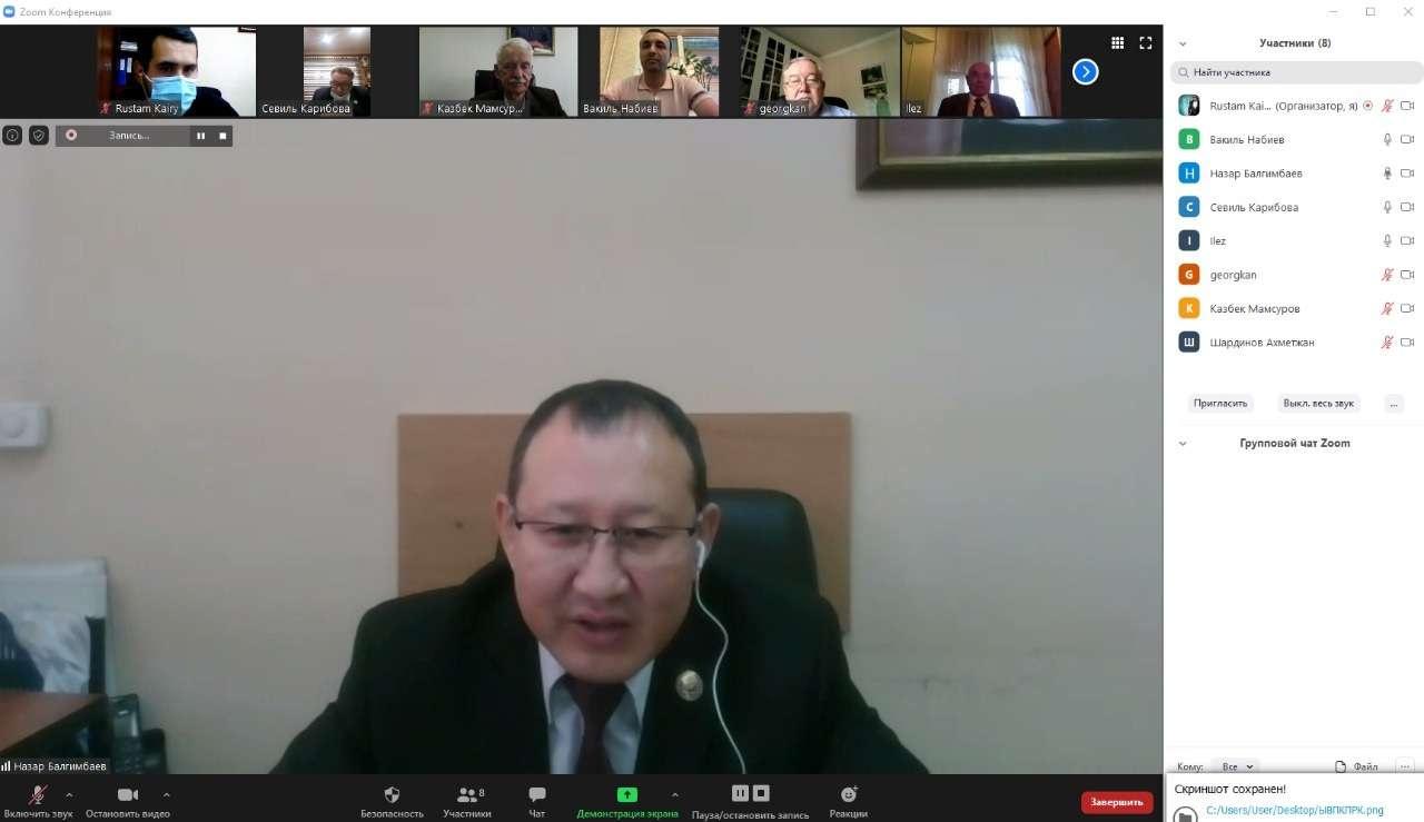 Заведующий секретариатом АНК Алматы Балгимбаев Н.А.