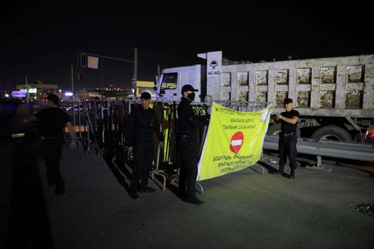 Снятие блокпостов в Алматы