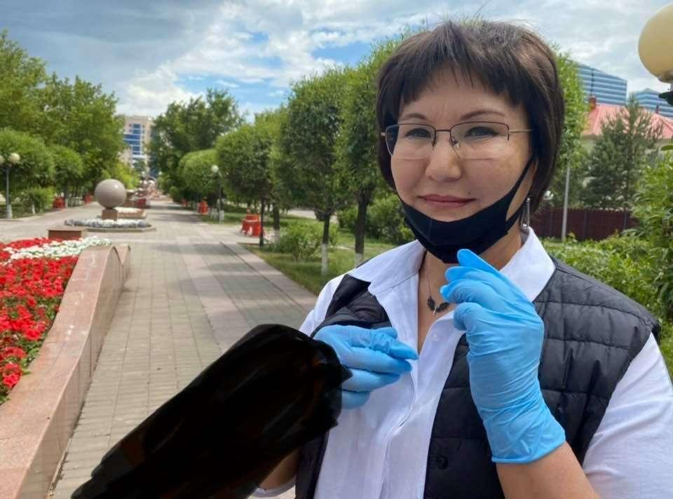Председатель ОФ ӘKazakhstan Parents` UnionӘ Гульбану Абенова