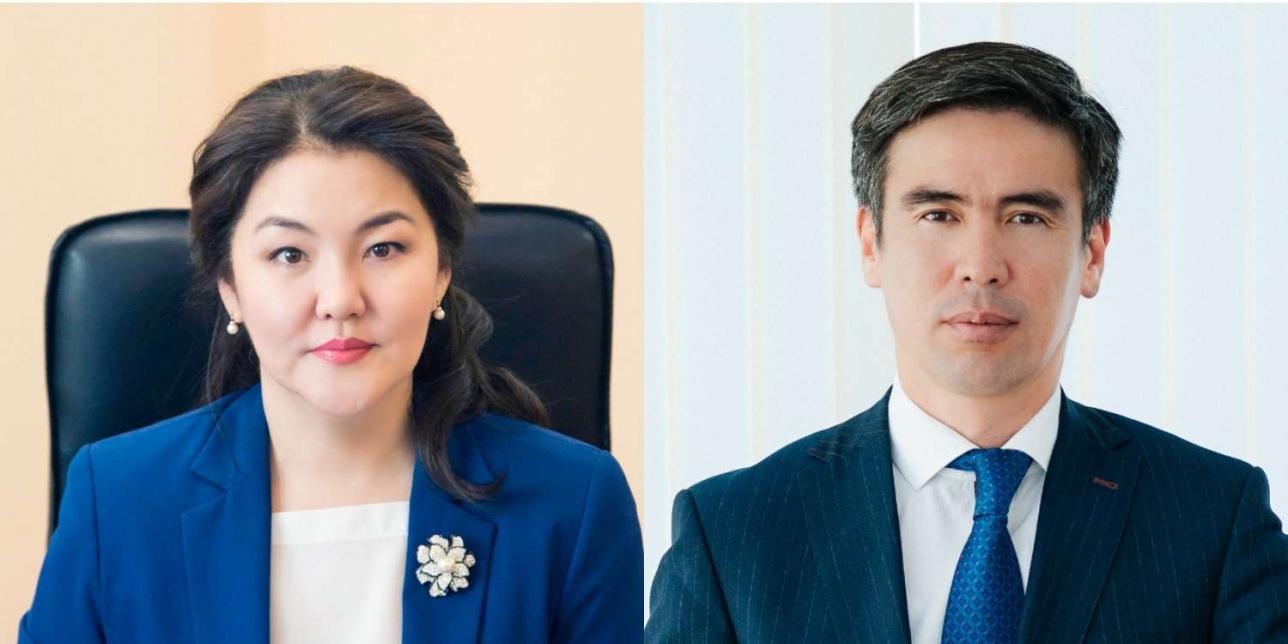 Вице-министры здравоохранения Ажар Гиният и Марат Шоранов