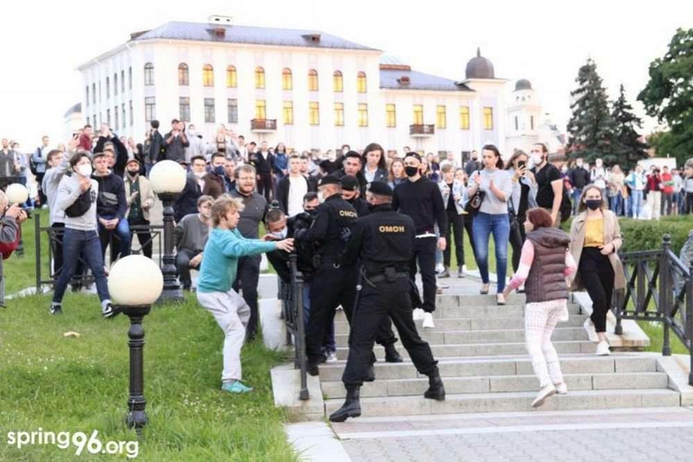 В крупных городах Беларуси прошли акции