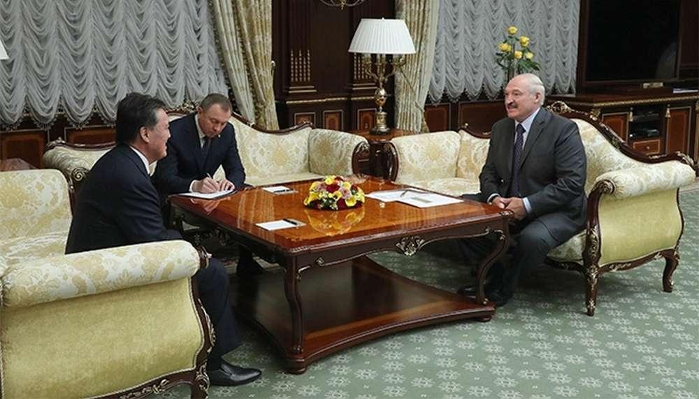 Встреча Александра Лукашенко и Аскара Мамина