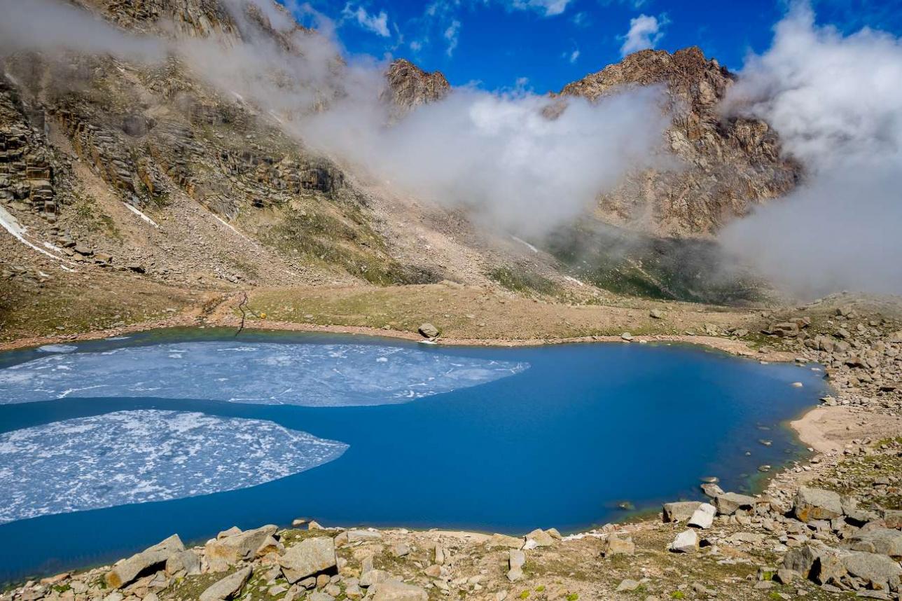 Ледники питают горные реки