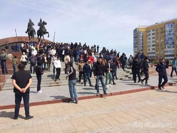Атырау қаласындағы митинг