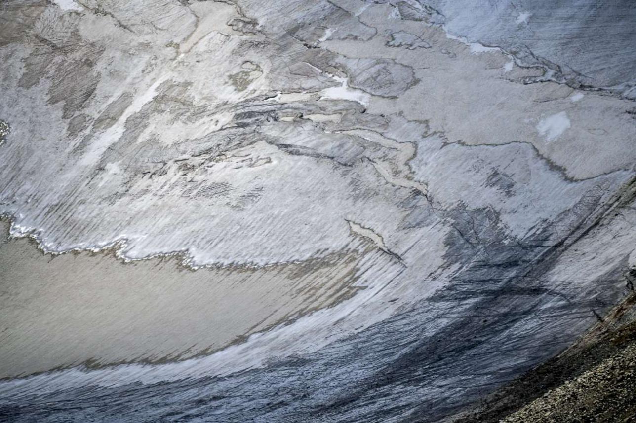 Ледник представляет собой многослойную структуру