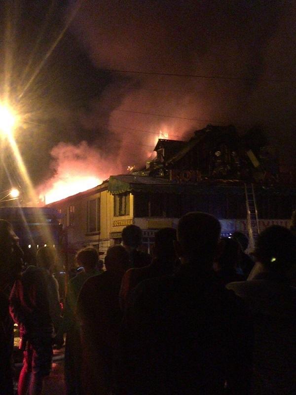 Пожар в алматинской гостинице