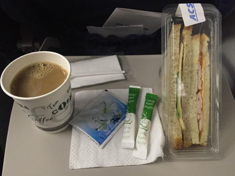 Меню на борту Qazaq Air