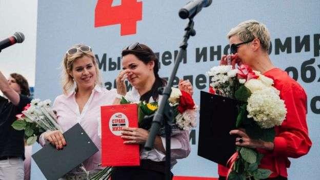 Вероника Цепкало, Мария Колесникова и Светлана Тихановская создали женский триумвират