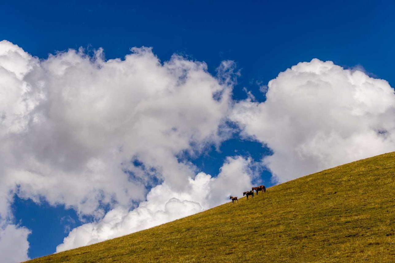 На плато очень красивое небо