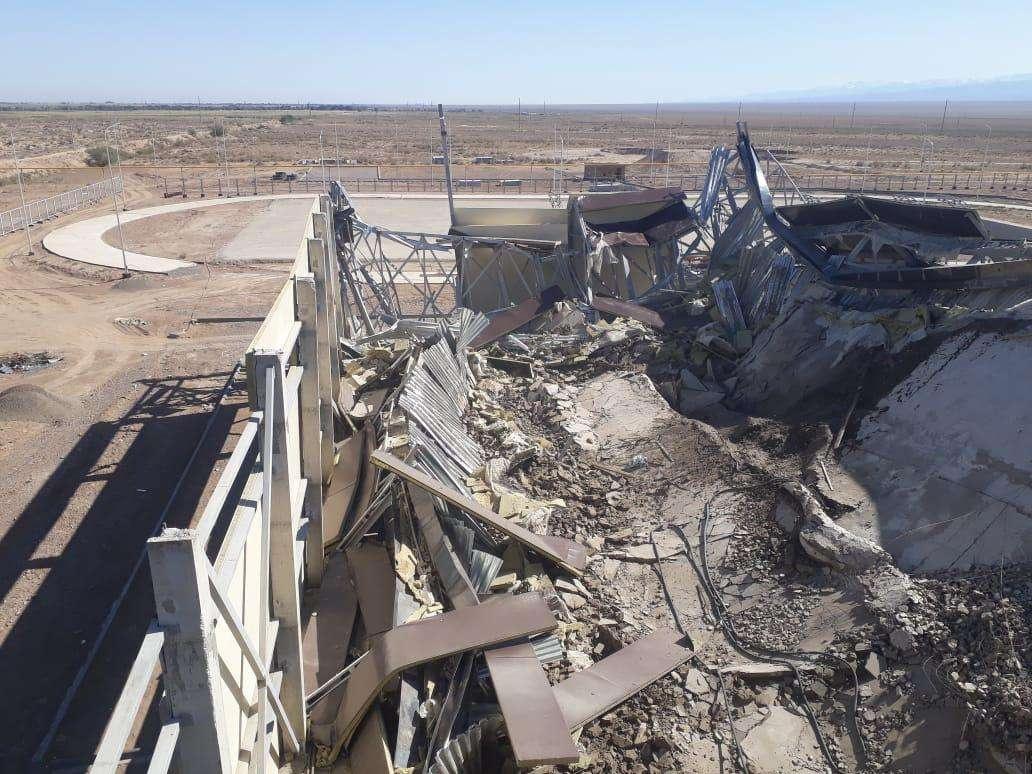 Последствия крушения на объекте в Алматинской области