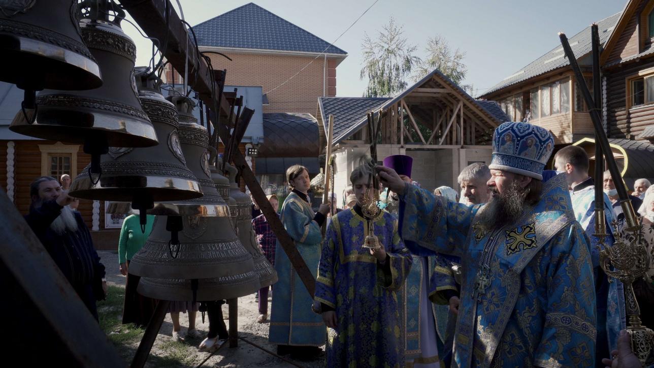 Освящение колоколов храма Рождества Пресвятой Богородицы