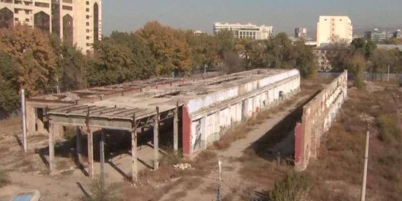 Строительные работы на территории бывшего депо