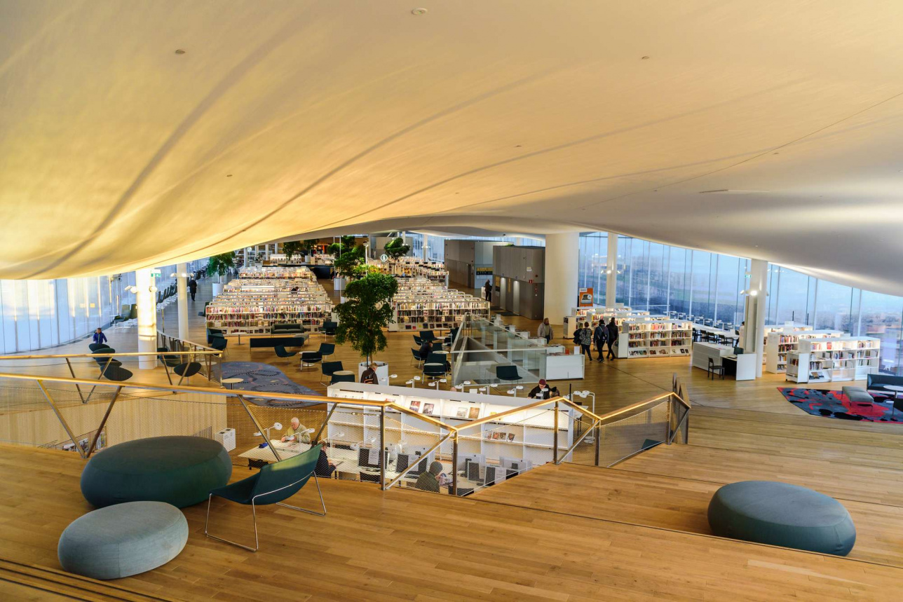 Библиотека Oodi в столице Финляндии Хельсинки