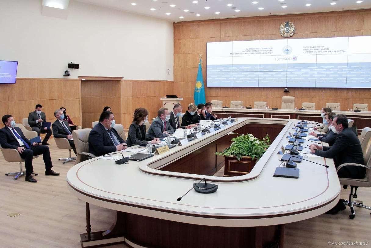Члены Центральной избирательной комиссии РК встретились с представителями миссии БДИПЧ/ОБСЕ