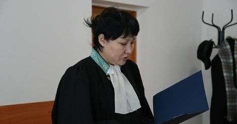 Судья Каинжамал Бухбанова на оглашении приговора в 2015 году