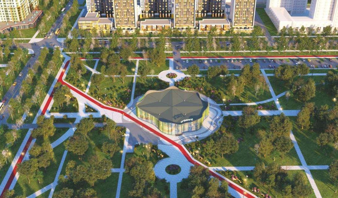 Проект спорткомплекса на территории ботанического сада