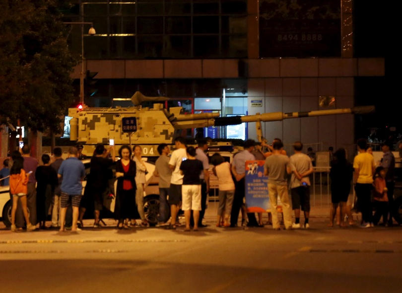 Подготовка к военному параду в Пекине.