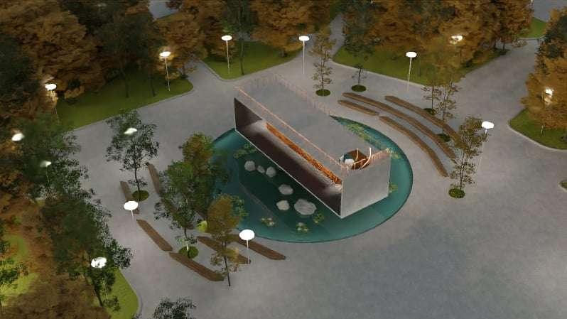 Двусторонняя уличая сцена, проект преобразования исторического центра Алматы