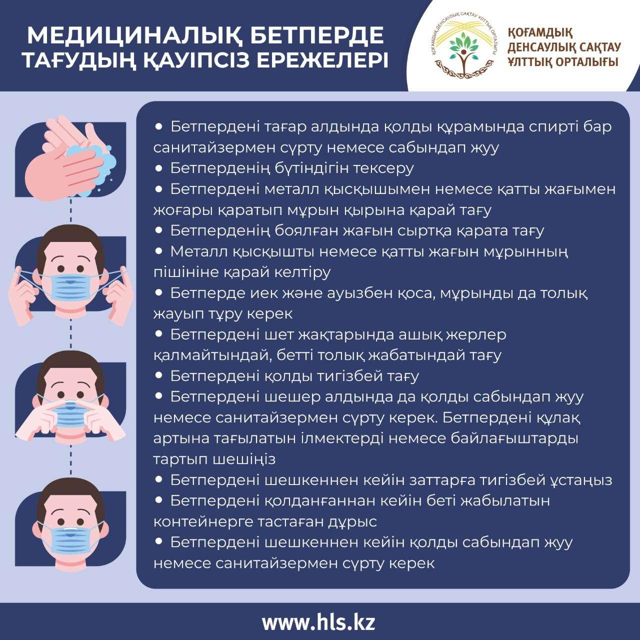 Медициналық маска тағу ережелері